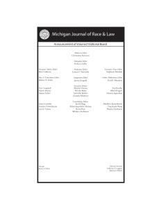 MJR&L Vol. 21 Masthead [ANNOUCEMENT DRAFT]